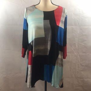 Alfani NWT blouse 1X Vibrant colors